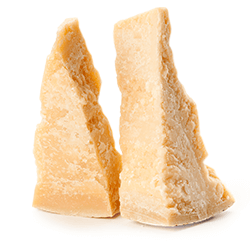 shaved parmigiano reggiano cheese